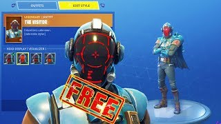 "BLOCKBUSTER SKIN ""THE VISITOR"" GAMEPLAY! & OFF WORLD RIG Back Bling - Fortnite Battle Royale"