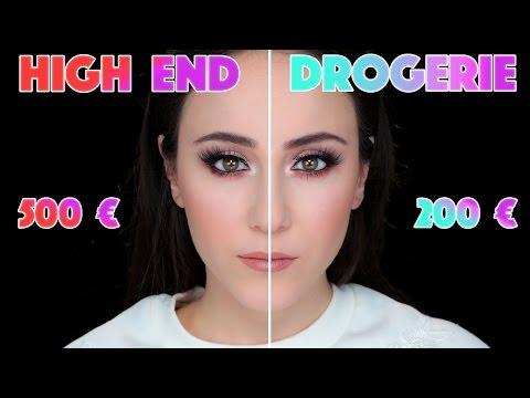 Halbes Gesicht HIGH END vs Halbes Gesicht DROGERIE | Make Up Tutorial | Hatice Schmidt