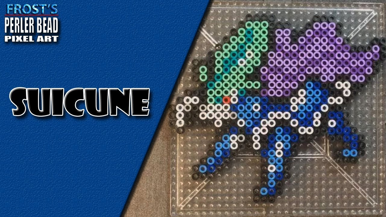 Legendary Pokemon Perler Bead Suicune By Frosts Entertainment
