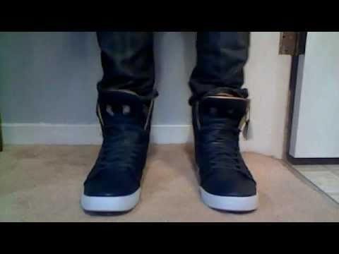4d147846a9 Supra Skytop 2 navy/gold On Feet - YouTube