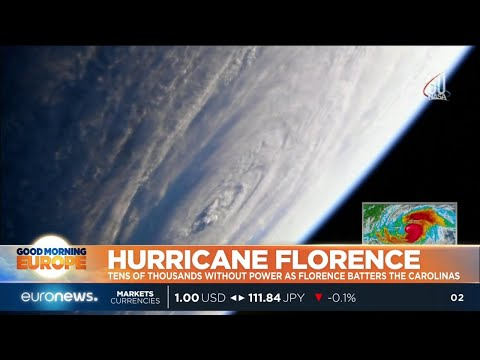 Hurricane Florence begins to batter the Carolinas