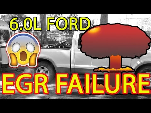 RAW FOOTAGE of a FORD F250 6.0L EGR FAILURE (The Day SEEMORE Died!)