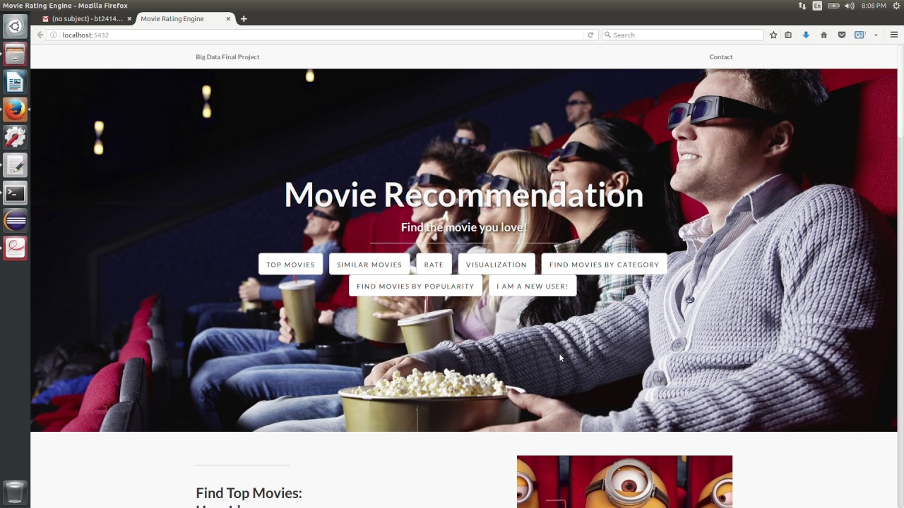 Visualized Movie Recommendation System