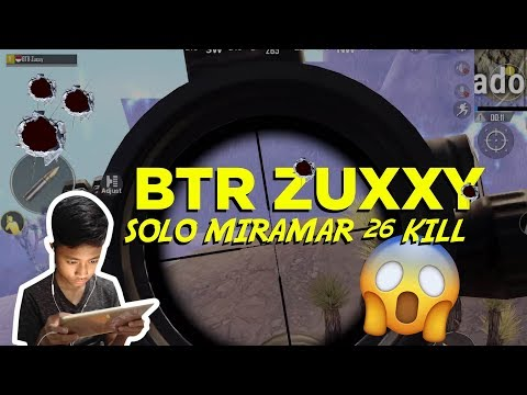 BTR ZUXXY SOLO SQUAD MIRAMAR DEADLY SPRAY 27 KILLS