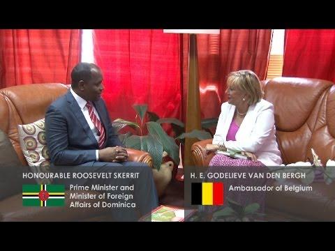 Dominica meets with Belgium