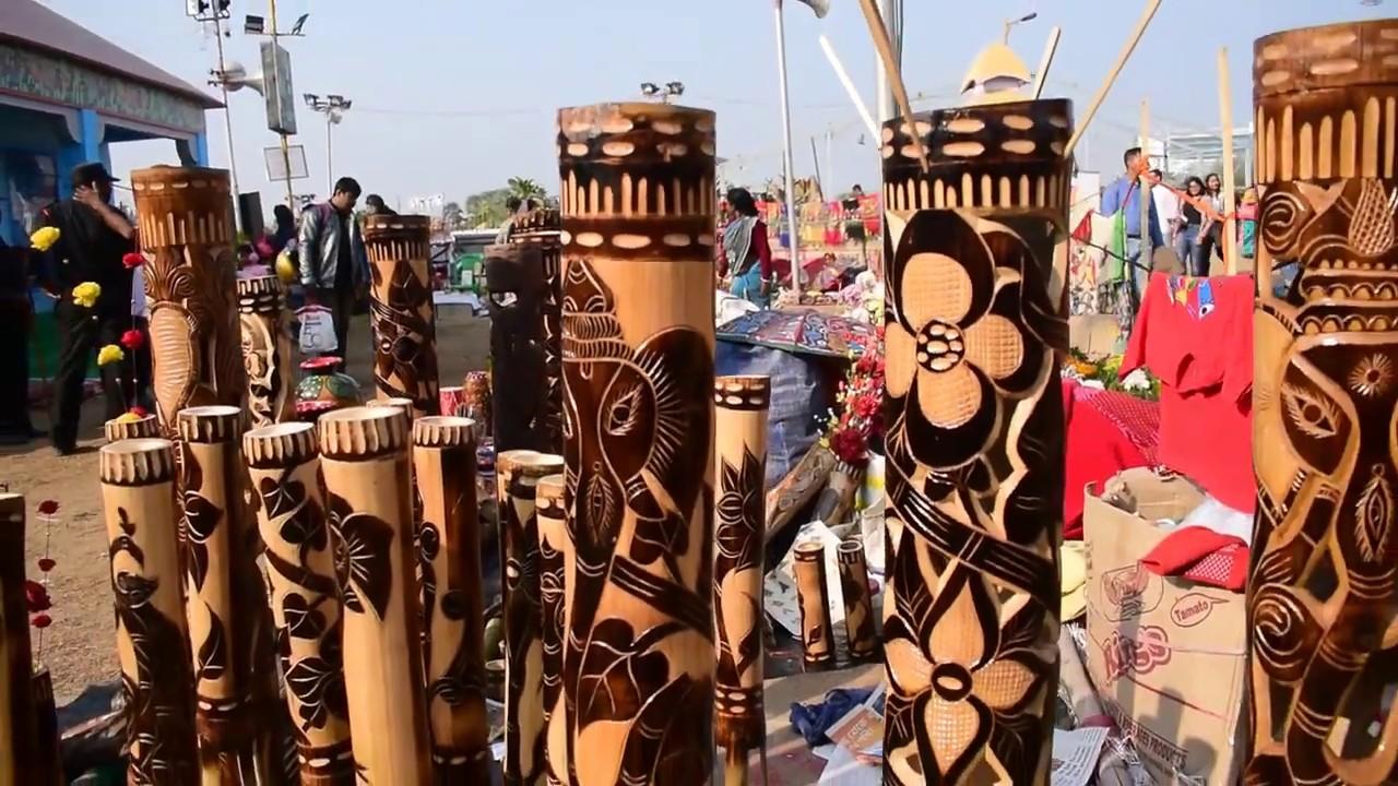 Products Made Of Bamboo At Handicraft Fair New Town Kolkata 2018 19