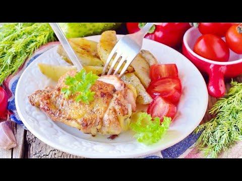 Сочные куриные бедра на сковороде с хрустящей корочкой ⭐ Супер рецепт маринада для окорочков!
