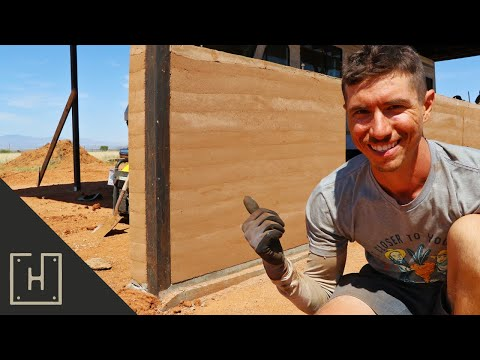 HOW TO BUILD A WALL OUT OF DIRT | RAMMED EARTH - YouTube