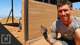 HOW TO BUILD A WALL OUT OF DIRT | RAMMED EARTH