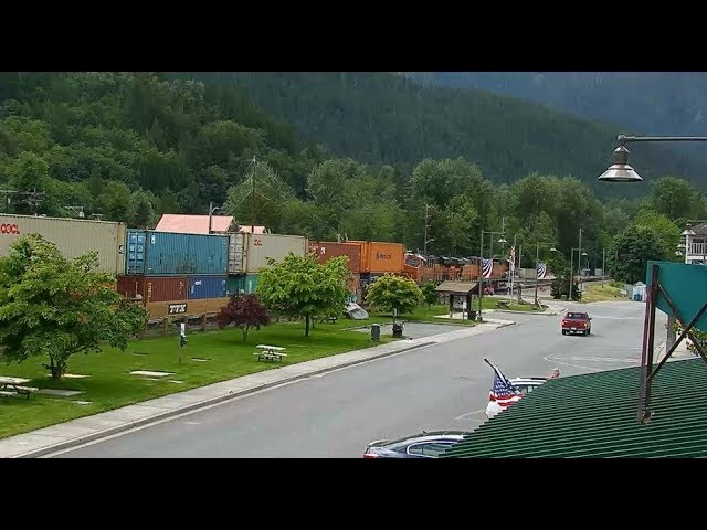Skykomish, Washington USA - Virtual Railfan LIVE