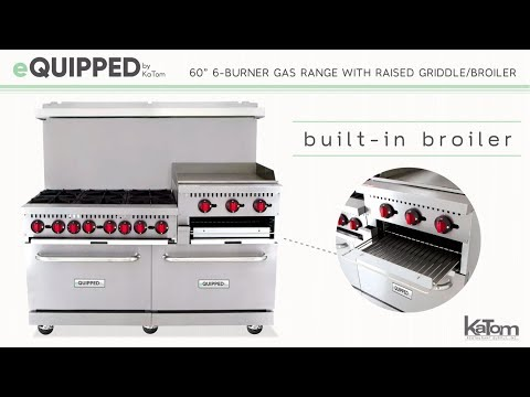 "EQuipped 60"" 6-Burner Gas Range With Raised Griddle/Broiler (895-CR10RGB24N)"