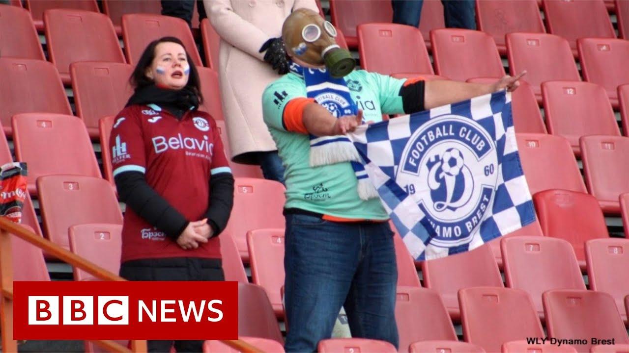 Phì cười với cách 'xem bóng đá ảo' ở Belarus