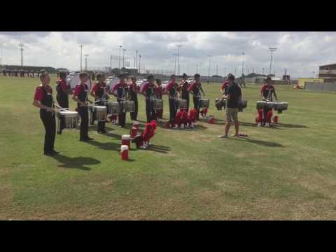 Tomball High School Band 2016 - Drumline Warm Up - BKat