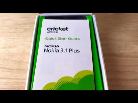 "Nokia 3.1 Plus Cricket Wireless 6"" HD+ Android Smartphone Unboxing 2-12-19"