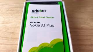 """Nokia 3.1 Plus Cricket Wireless 6"""" HD+ Android Smartphone Unboxing 2-12-19"""