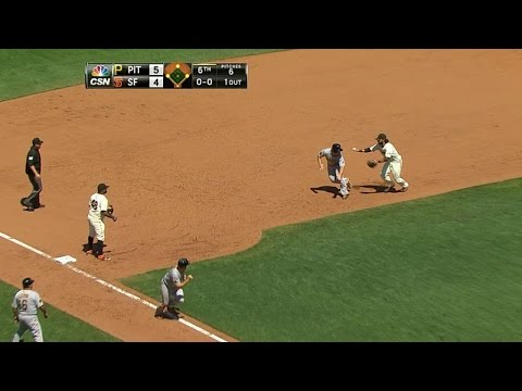 Giants get two rundowns for odd double play