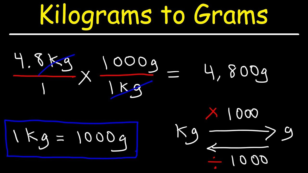 How To Convert Kilograms To Grams And Grams To Kilograms Youtube