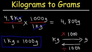 How To Convert Kilograms Grams And