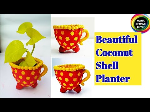 Coconut Shell craft#Best out of waste craft idea#how to reuse waste Coconut Shell