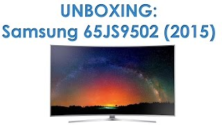 01. Samsung JS9502 (JS9500) Ultra HD TV unboxing
