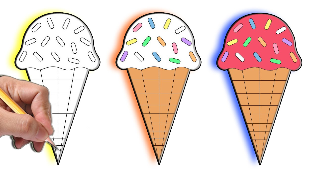 картинки мороженого на рисование