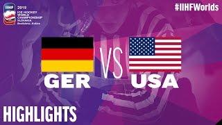 Germany vs. USA - Game Highlights - #IIHFWorlds 2019