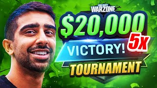 I WON ANOTHER $20,000 WARZONE TOURNAMENT! (5th Win)