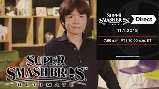 Smash Ultimate Direct Confirmed for November 1 with Nintendo Treehouse Live  Presentation