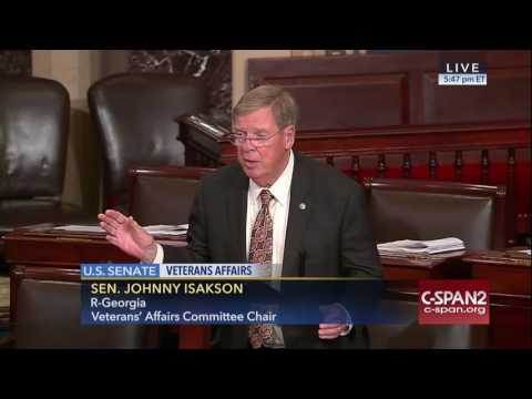 Isakson urges Senate to approve veterans reform package