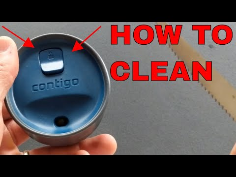 HOW TO CLEAN YOUR CONTIGO AUTO- SEAL TRAVEL MUG LID SO IT DOESN'T SMELL