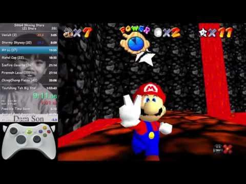 SM64 Shining Stars: 121 Star Speedrun In 1:49:05