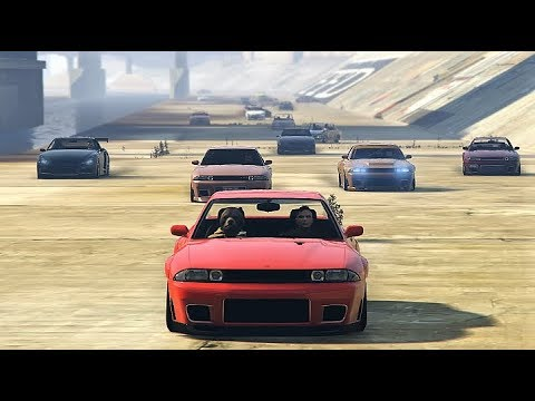 GTA 5 Online GTR CAR MEET