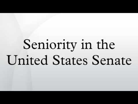 Seniority in the United States Senate