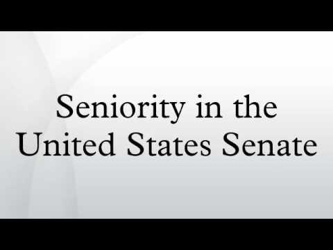 Seniority in the United States Senate