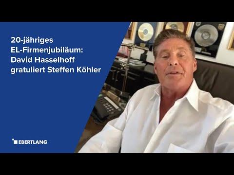20-jähriges EL-Firmenjubiläum: David Hasselhoff gratuliert unserem Kollegen Steffen Köhler