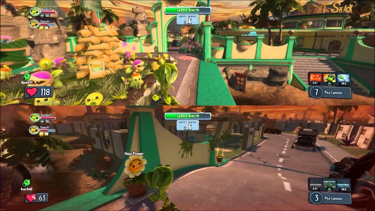 Plants Vs Zombies Garden Warfare Part 4 Split Screen Pea Shooter Youtube