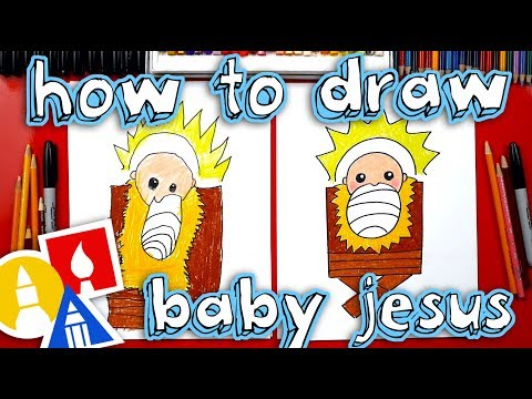 How To Draw Baby Jesus In A Manger - Nativity