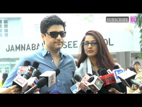 Sonali Bendre casts her vote for Maharashtra State Elections 2014