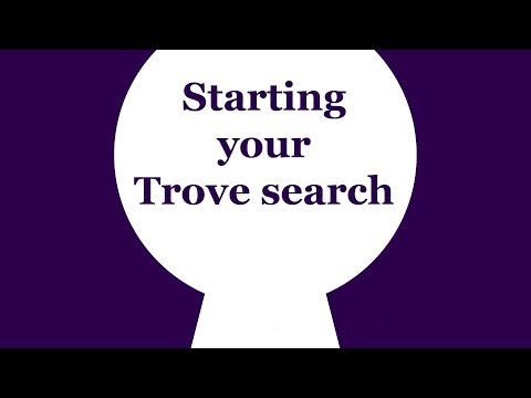 Trove Tip | Starting Your Trove Search