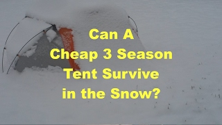 Awesome Outdoors - Using a 3 Season Tent in Winter | Evil Ginger Films
