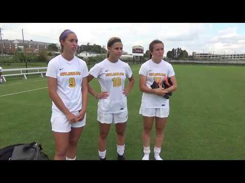 Salisbury women's soccer post-game interviews vs. Catholic 9-16-17