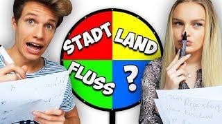 GLÜCKSRAD CHALLENGE mit FREUNDIN!! (Stadt, Land, Fluss)