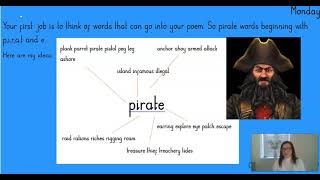 Acrostic Pirate Poetry