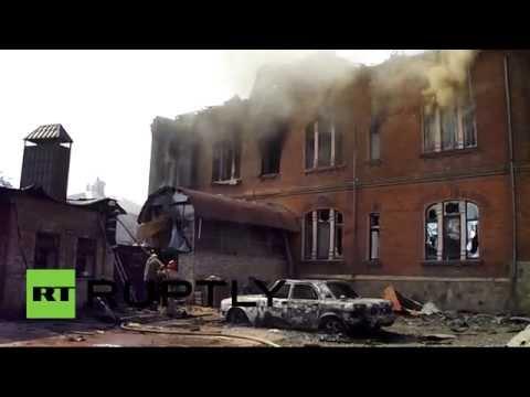 RAW: Slavyansk burns