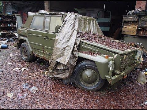 Нашли в лесу заброшенную стоянку военной  техники