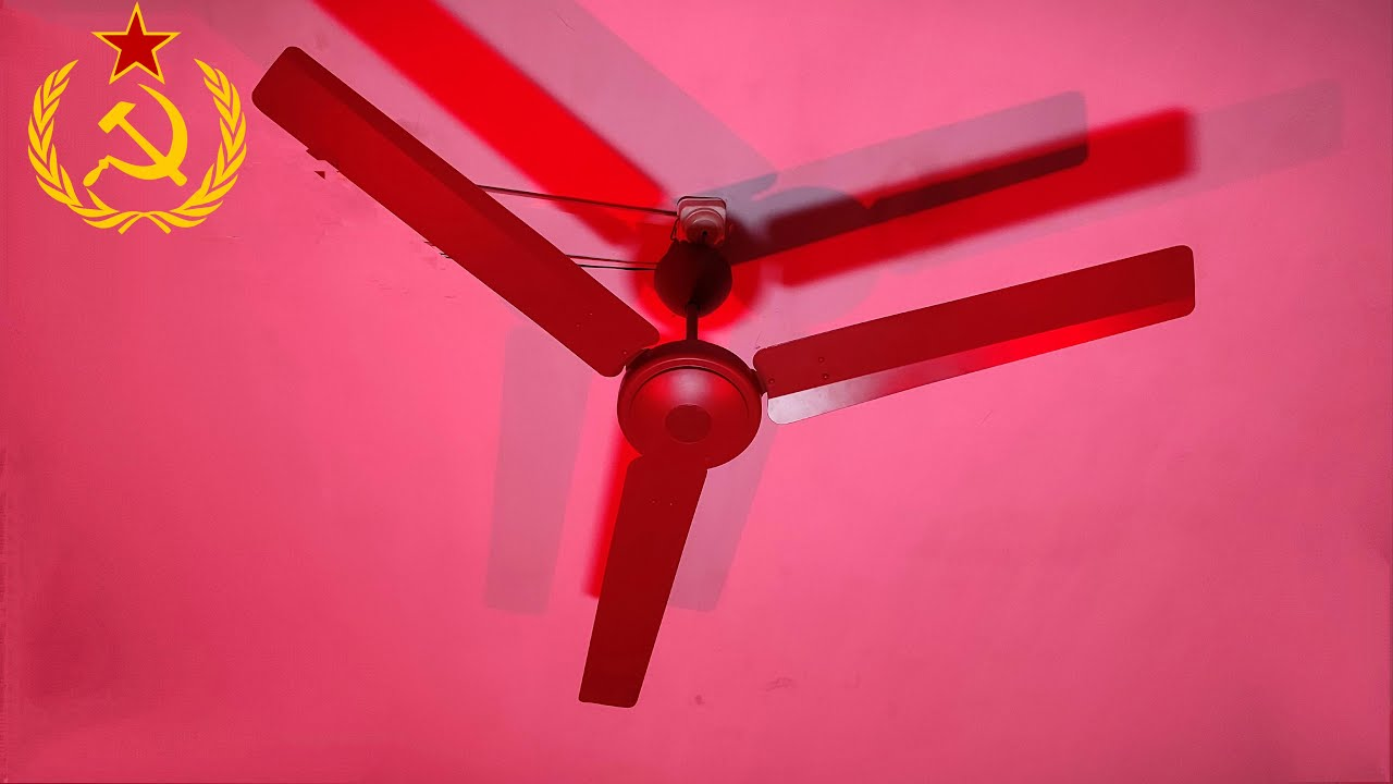 USSR National Anthem Sung By Ceiling Fan | { Use Headphone 🎧 }