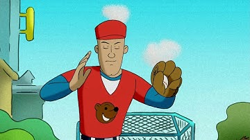 George Playing Baseball   Curious George  Animated Cartoons For Children