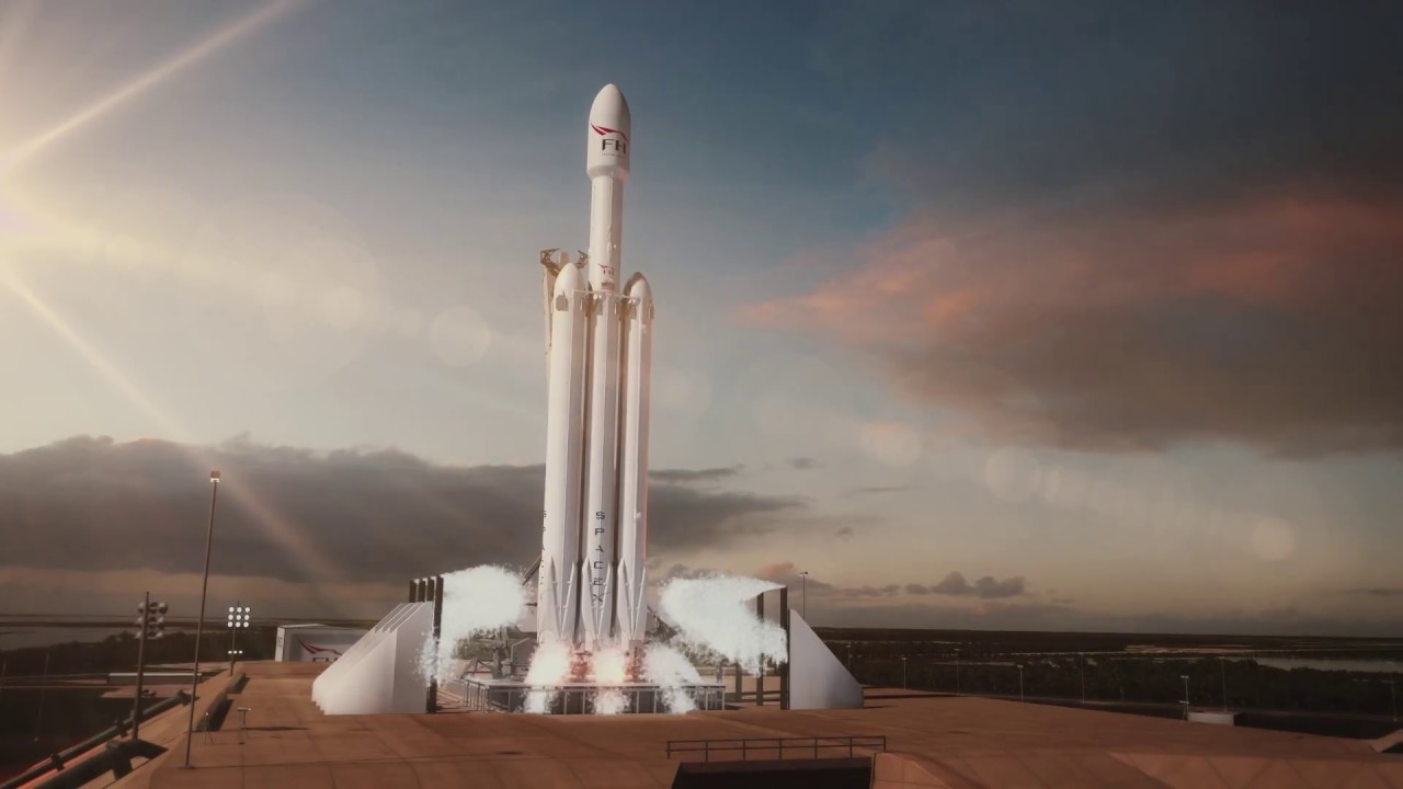 First Falcon Heavy launch blends SpaceX style, raw power and the
