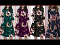 Gorgeous And Fabulous Stylish Floral Print ALine /Skater /Knee Length Cocktail Dresses
