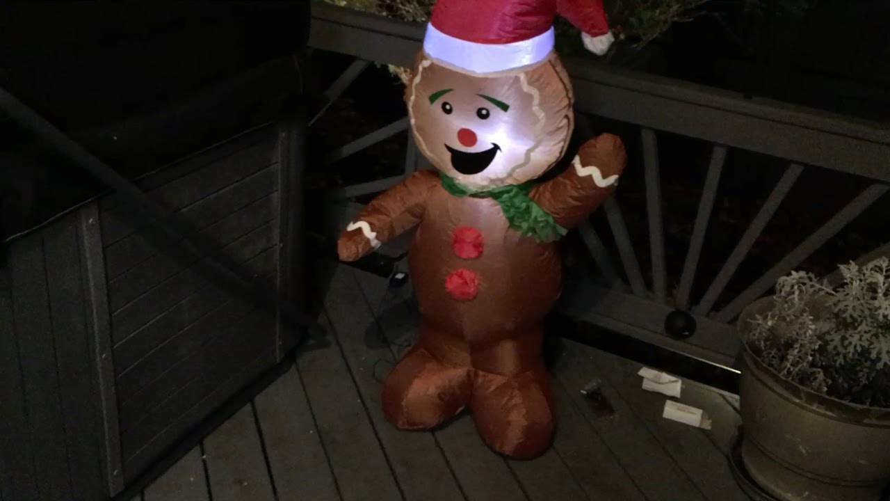 gemmy 4ft gingerbread man inflatable review 2016 - Inflatable Gingerbread Man Christmas Decor